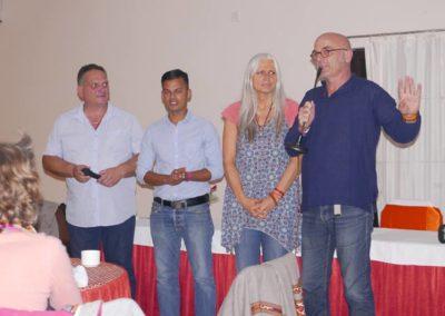 Soirée de présentation de l'association à Bodhgaya
