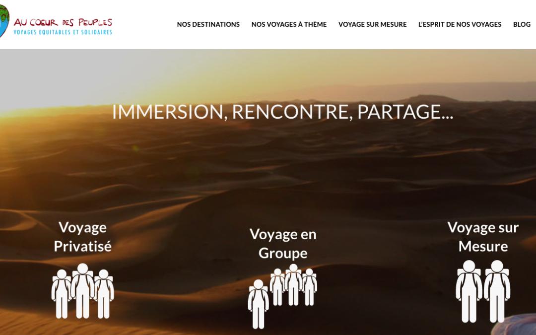 """Partenariat avec l'association """"Au Coeur Des Peuples"""" Voyages solidaires"""